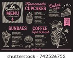 dessert menu for restaurant and ... | Shutterstock .eps vector #742526752