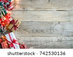 christmas holiday background... | Shutterstock . vector #742530136