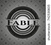 fable realistic black emblem | Shutterstock .eps vector #742530835