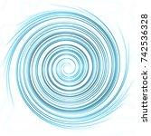 circle swirl effect blue | Shutterstock . vector #742536328
