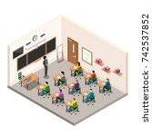a school room for study  a... | Shutterstock .eps vector #742537852