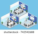 business meeting in an office... | Shutterstock .eps vector #742542688