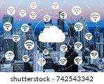 communication. | Shutterstock . vector #742543342