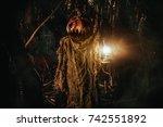 halloween character. a terrible ... | Shutterstock . vector #742551892