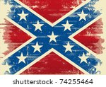 confederate flag. a background... | Shutterstock .eps vector #74255464
