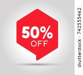 special offer sale red tag.... | Shutterstock .eps vector #742555462