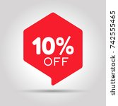special offer sale red tag.... | Shutterstock .eps vector #742555465