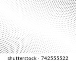 abstract halftone wave dotted... | Shutterstock .eps vector #742555522