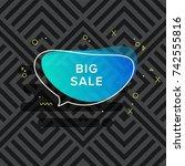 vector trendy colorful bubble....   Shutterstock .eps vector #742555816