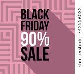 trendy promo banner for black... | Shutterstock .eps vector #742556032