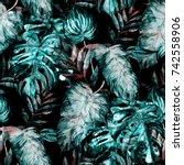 watercolor seamless pattern... | Shutterstock . vector #742558906