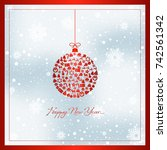new year card | Shutterstock .eps vector #742561342