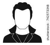 new man avatar icon. simple...