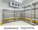 warehouse freezer | Shutterstock . vector #742574776