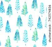 Fir Trees Seamless Background....