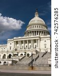 the united states capitol ... | Shutterstock . vector #742576285