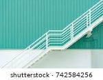 fire escape ladder or emergency ... | Shutterstock . vector #742584256