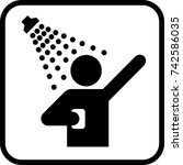 shower icon. man taking shower. ... | Shutterstock .eps vector #742586035