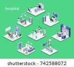 isometric 3d vector... | Shutterstock .eps vector #742588072