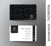 modern business card template...   Shutterstock .eps vector #742589506