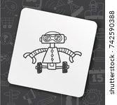 doodle robot   Shutterstock .eps vector #742590388
