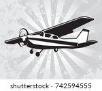 civil utility aircraft | Shutterstock .eps vector #742594555