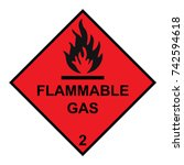 flammable gas diamond with... | Shutterstock .eps vector #742594618