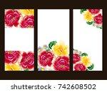 vintage delicate invitation... | Shutterstock .eps vector #742608502