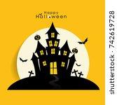 happy halloween design...   Shutterstock .eps vector #742619728