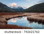 late autumn sunset in the uinta ... | Shutterstock . vector #742621762