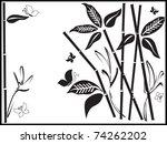vector silhouette of bamboo...   Shutterstock .eps vector #74262202