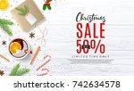 xmas promo web banner.... | Shutterstock .eps vector #742634578