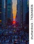 42nd street  manhattan  ny  usa ... | Shutterstock . vector #742646836