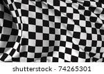 checkered flag  race flag | Shutterstock . vector #74265301