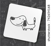 doodle dog | Shutterstock .eps vector #742654168
