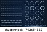 hud gray futuristic user... | Shutterstock .eps vector #742654882