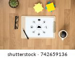 cloud computing diagram network ... | Shutterstock . vector #742659136