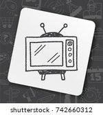doodle tv | Shutterstock .eps vector #742660312