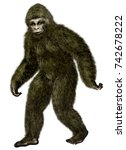 Stock photo bigfoot yeti 742678222