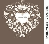 decorative brown floral... | Shutterstock .eps vector #74268382