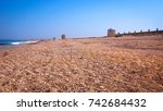 old mills on the beach | Shutterstock . vector #742684432