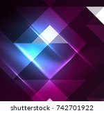 cosmic electric background with ... | Shutterstock .eps vector #742701922