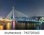 bangkok city   cityscape rama8... | Shutterstock . vector #742720162
