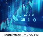 financial stock market graph on ... | Shutterstock . vector #742722142