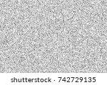 test screen glitch noise... | Shutterstock .eps vector #742729135