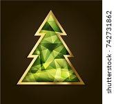christmas tree christmas card....   Shutterstock .eps vector #742731862