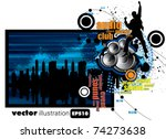 vector music illustration | Shutterstock .eps vector #74273638