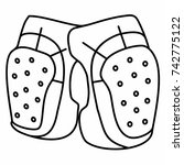bicycle knee pads gaskets guards | Shutterstock .eps vector #742775122