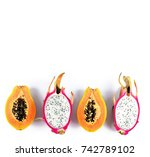 healthy lifestyle concept ...   Shutterstock . vector #742789102