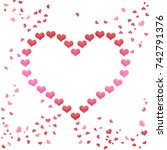 love valentines day heart from... | Shutterstock . vector #742791376